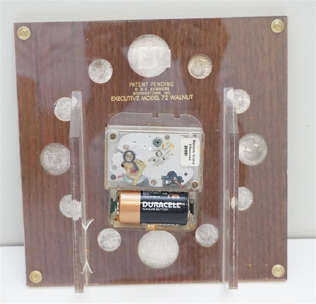 MID CENTURY 1964 SILVER COINS DESK CLOCK - 5