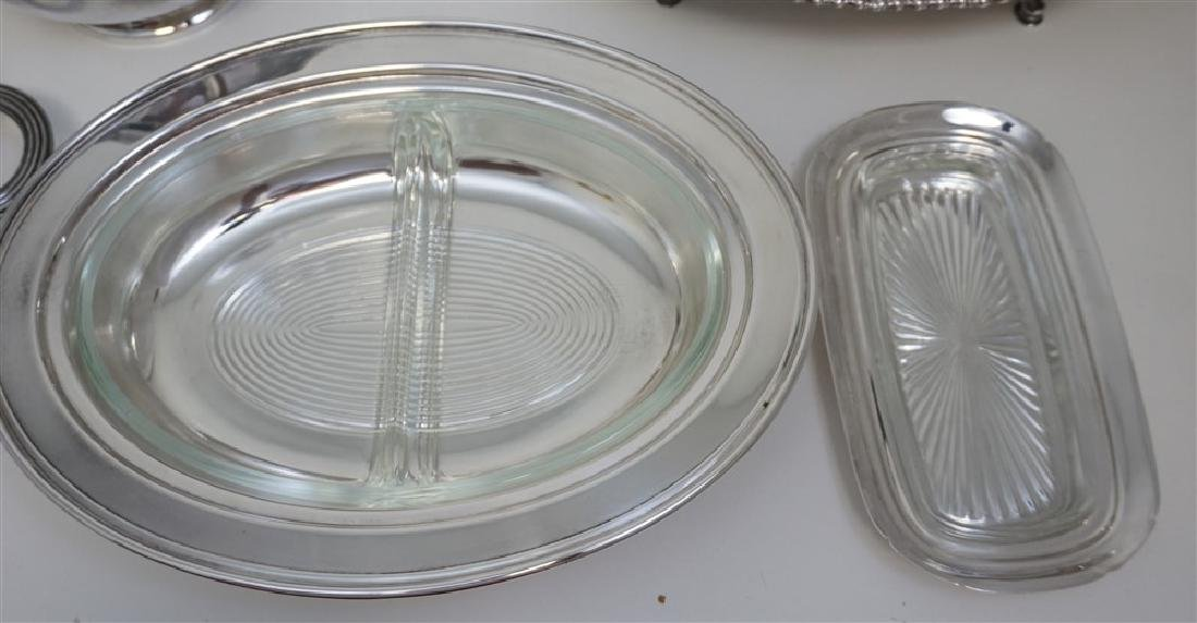 19 pc GOOD SILVER PLATE TRAYS - BOWLS + - 10