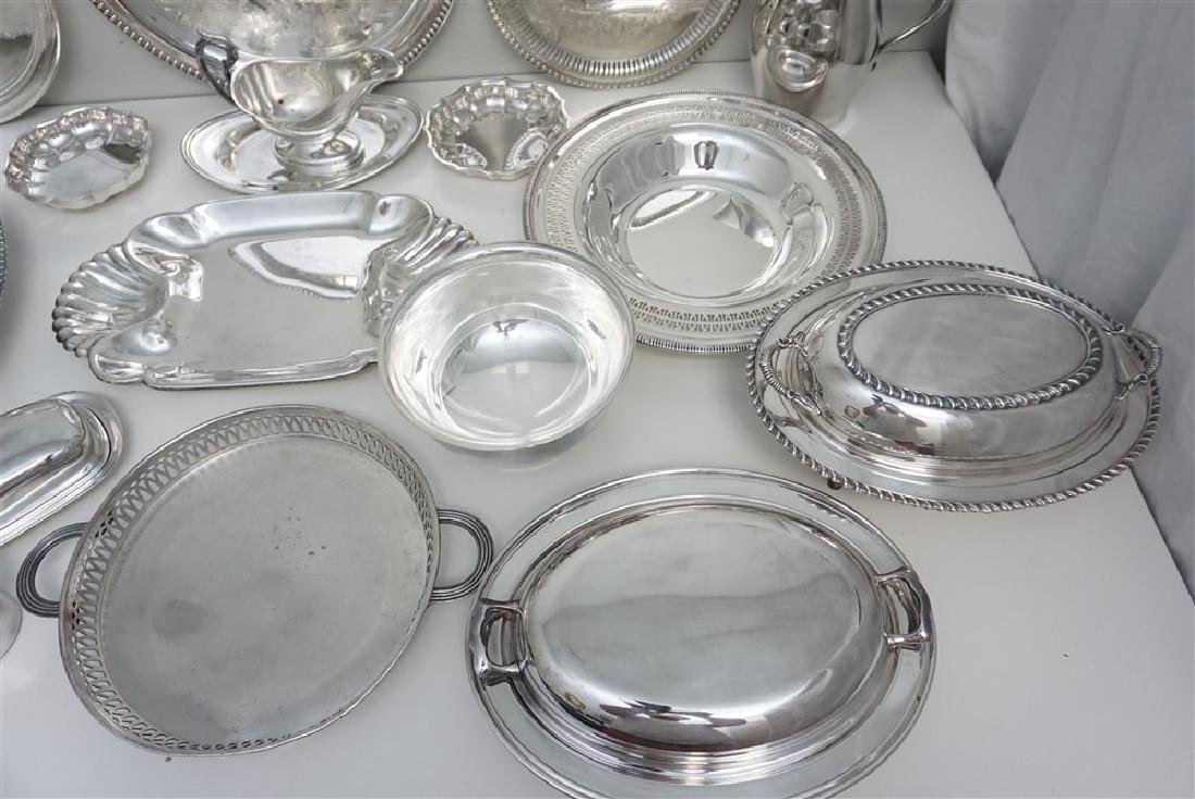 19 pc GOOD SILVER PLATE TRAYS - BOWLS + - 4