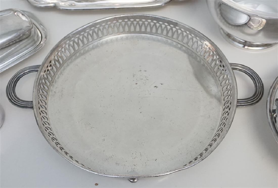 19 pc GOOD SILVER PLATE TRAYS - BOWLS + - 7