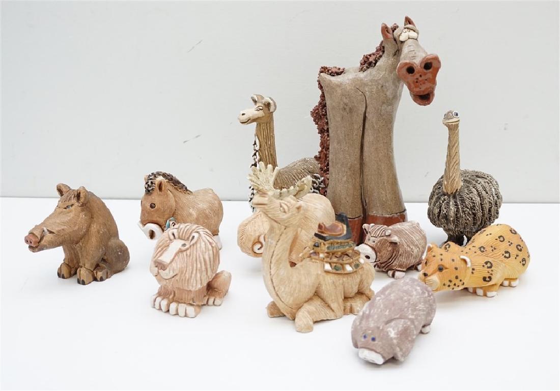 11 ARTESANIA RINCONADA POTTERY ANIMALS