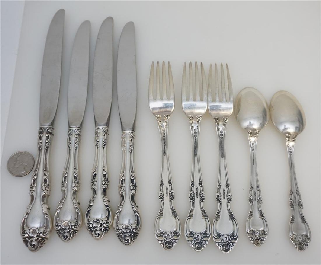 9 PC GORHAM STERLING SILVER MELROSE - 4