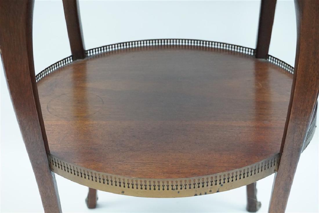 MAHOGANY FRENCH STYLE ORMOLU TABLE - 10