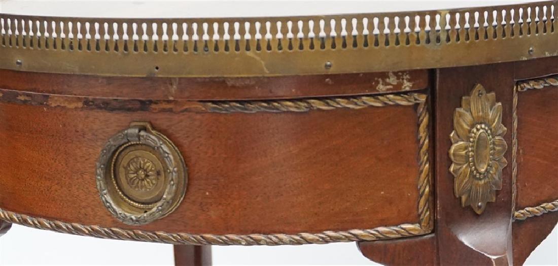 MAHOGANY FRENCH STYLE ORMOLU TABLE - 4