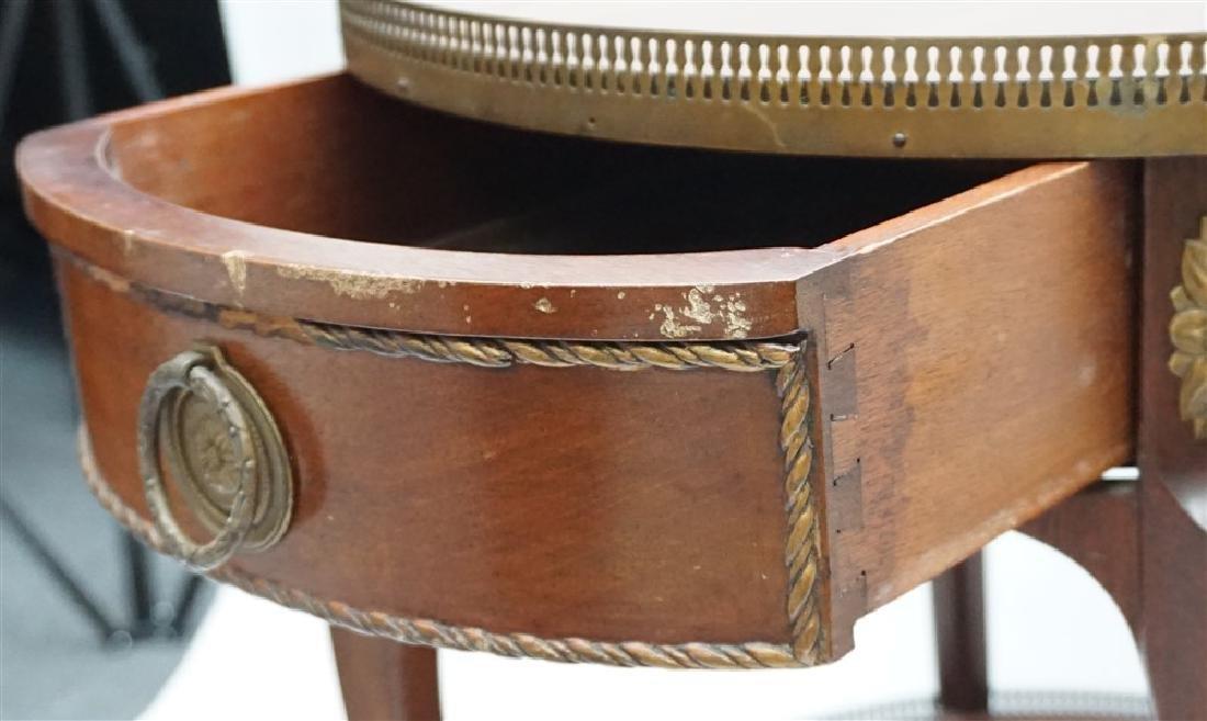 MAHOGANY FRENCH STYLE ORMOLU TABLE - 5
