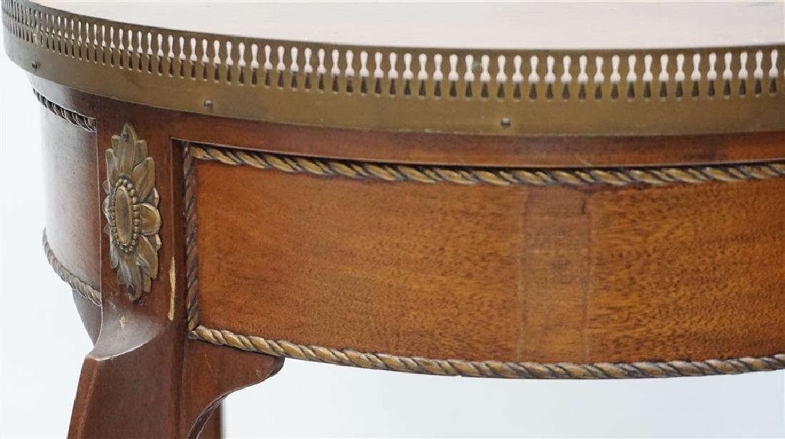 MAHOGANY FRENCH STYLE ORMOLU TABLE - 9