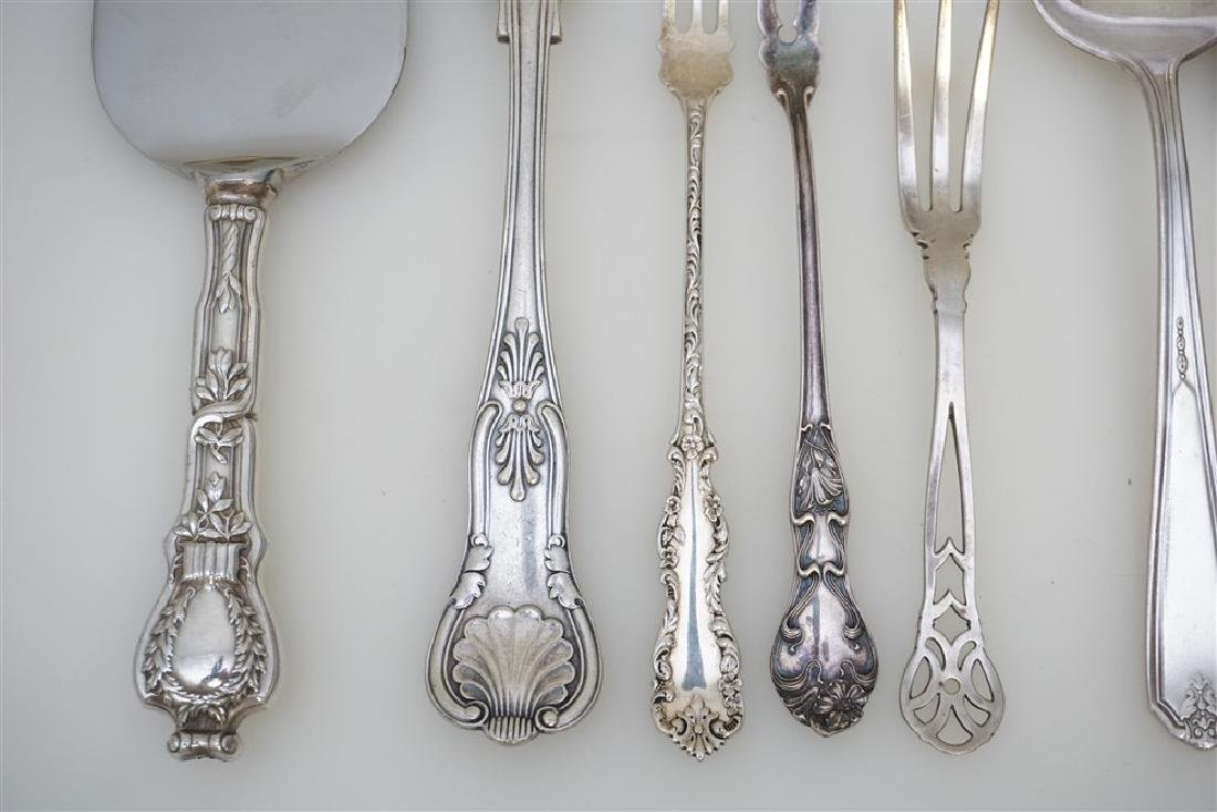 8 pc STERLING 3pc SILVER PLATE - 2