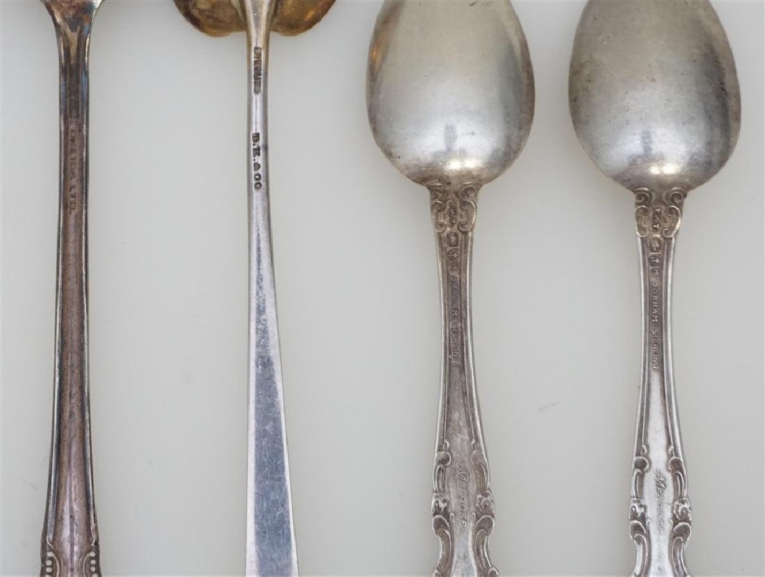 8 pc STERLING 3pc SILVER PLATE - 7