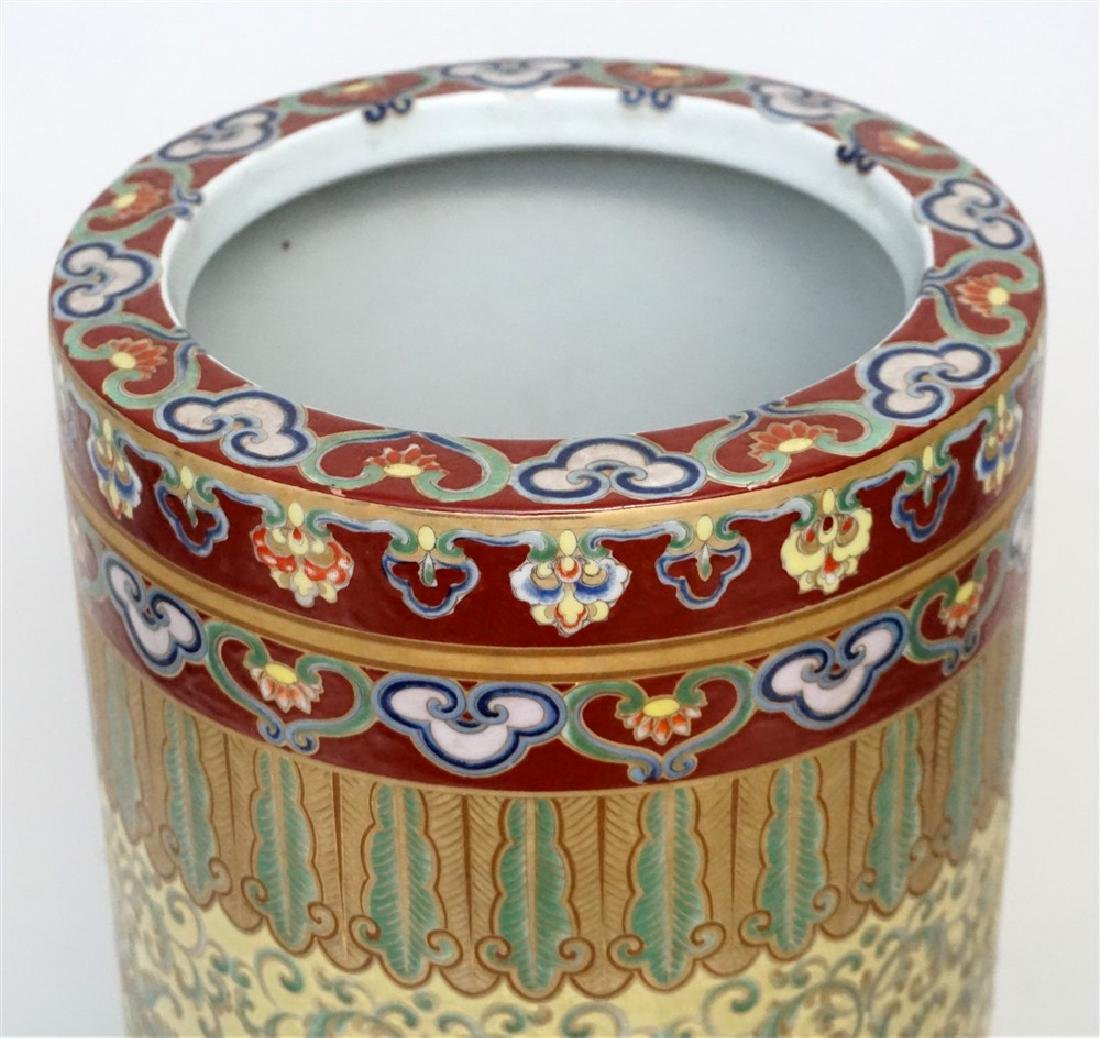 CHINESE PORCELAIN UMBRELLA STAND - 4