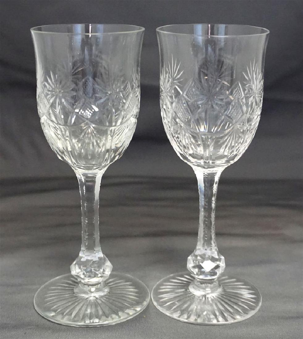 3PC CUT ETCHED COMPOTE & GLASSES - 2
