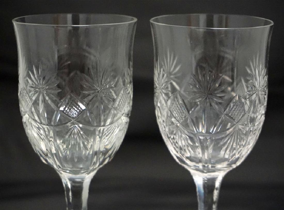 3PC CUT ETCHED COMPOTE & GLASSES - 3