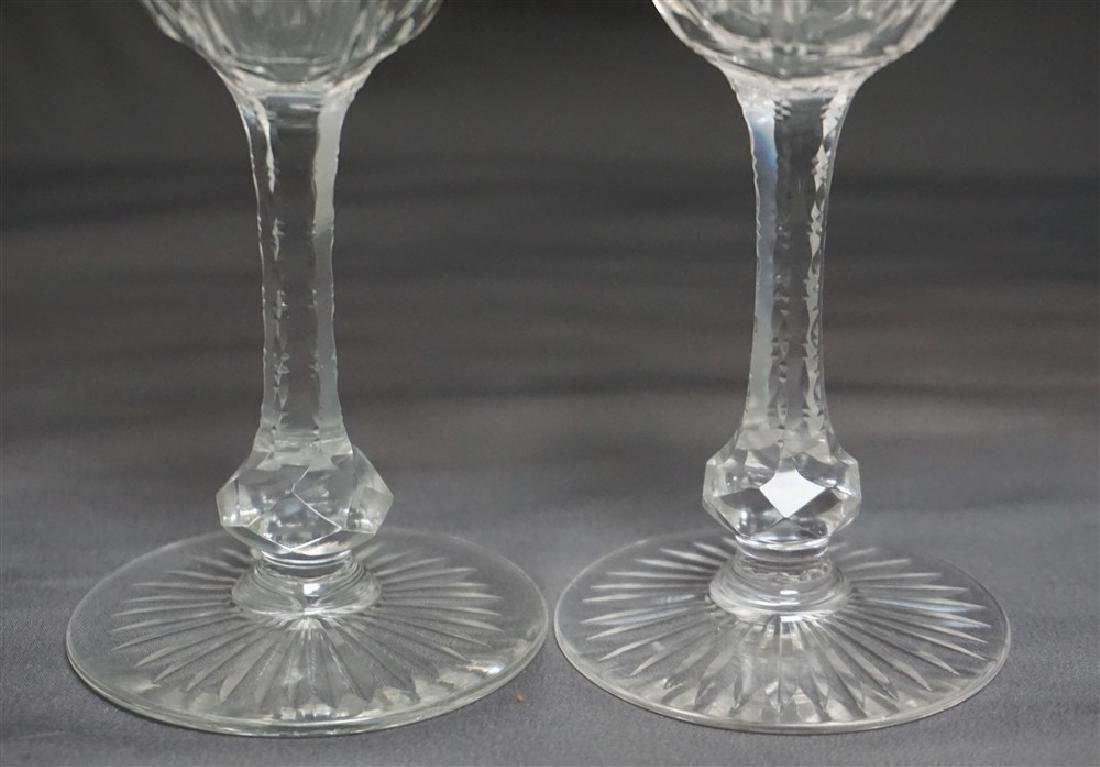 3PC CUT ETCHED COMPOTE & GLASSES - 4