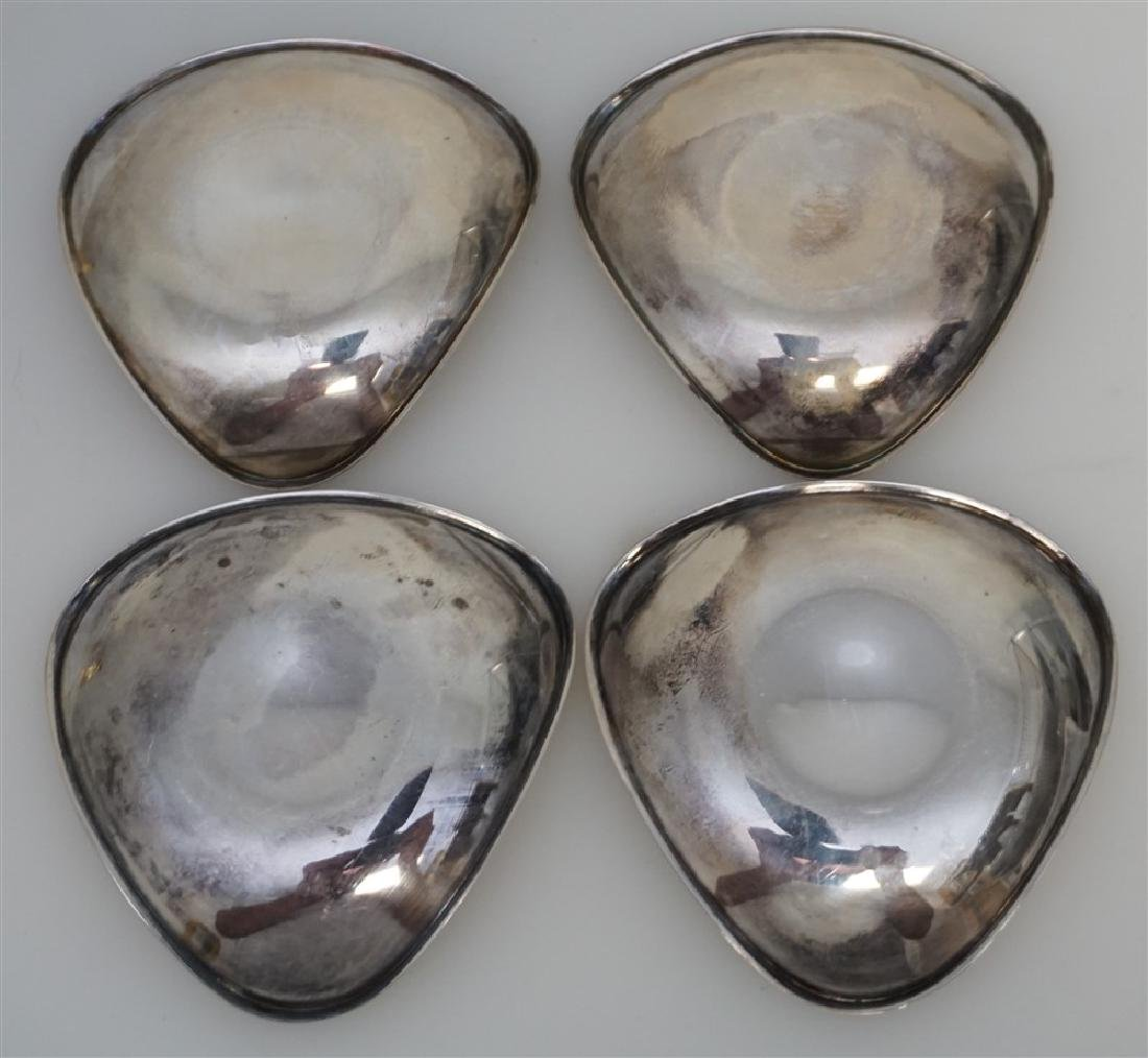 FOUR SPANISH SILVER  NUT DISHES - 6