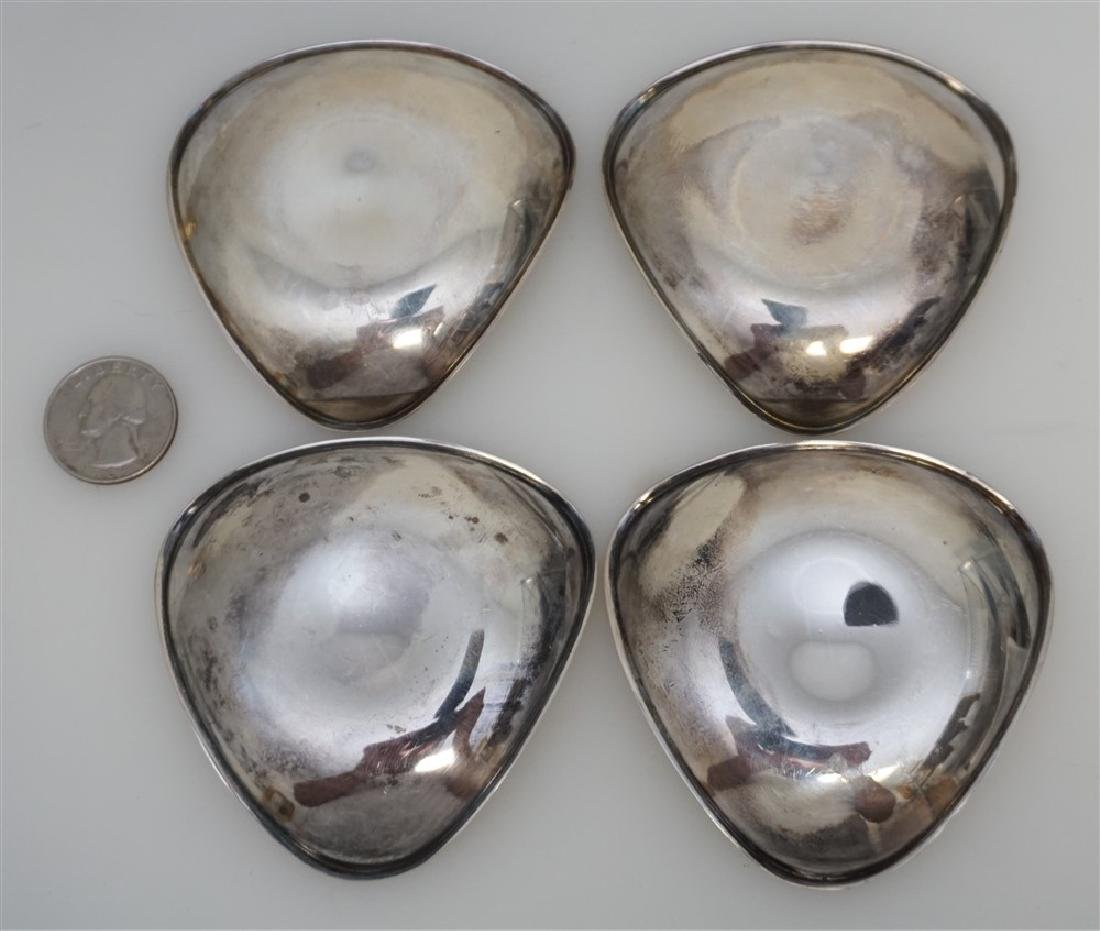 FOUR SPANISH SILVER  NUT DISHES - 7