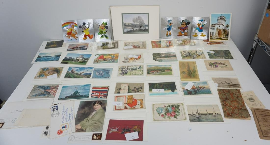 LARGE LOT VICTORIAN POSTCARDS - BOOKS +