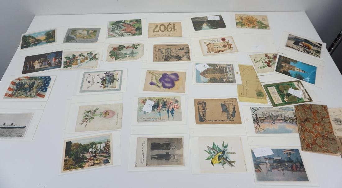 LARGE LOT VICTORIAN POSTCARDS - BOOKS + - 6