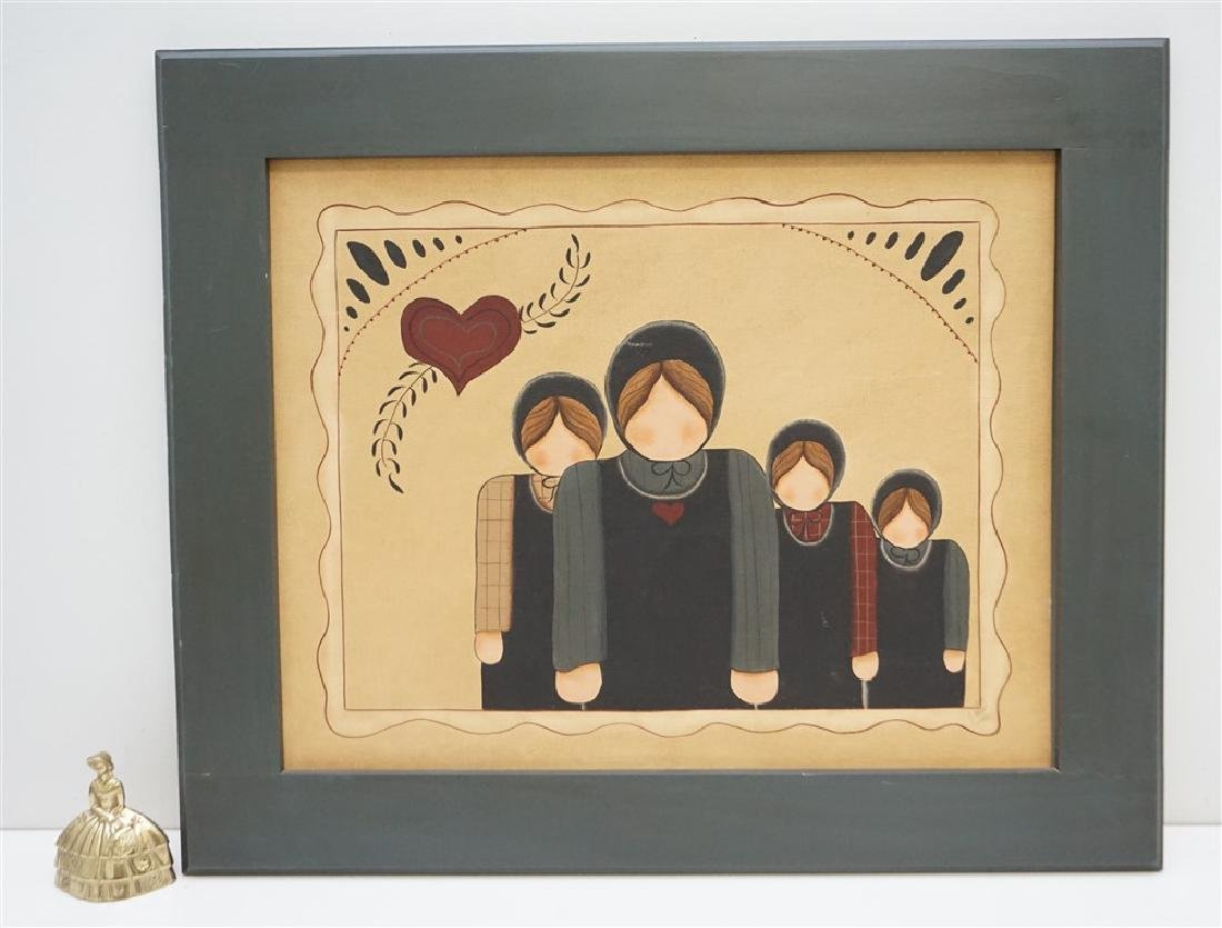 VINTAGE GOLDIE WEBER AMISH PAINTING - 5