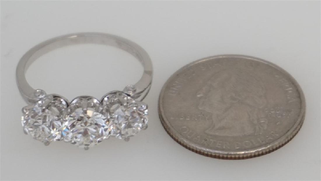 PLATINUM THREE DIAMOND RING (4.00CTS/TW) - 10
