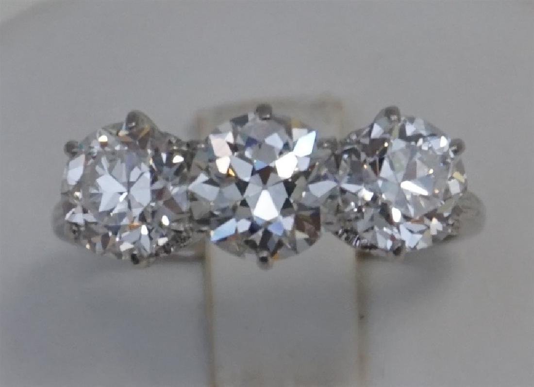 PLATINUM THREE DIAMOND RING (4.00CTS/TW) - 2