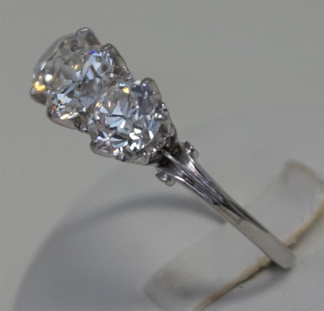 PLATINUM THREE DIAMOND RING (4.00CTS/TW) - 3