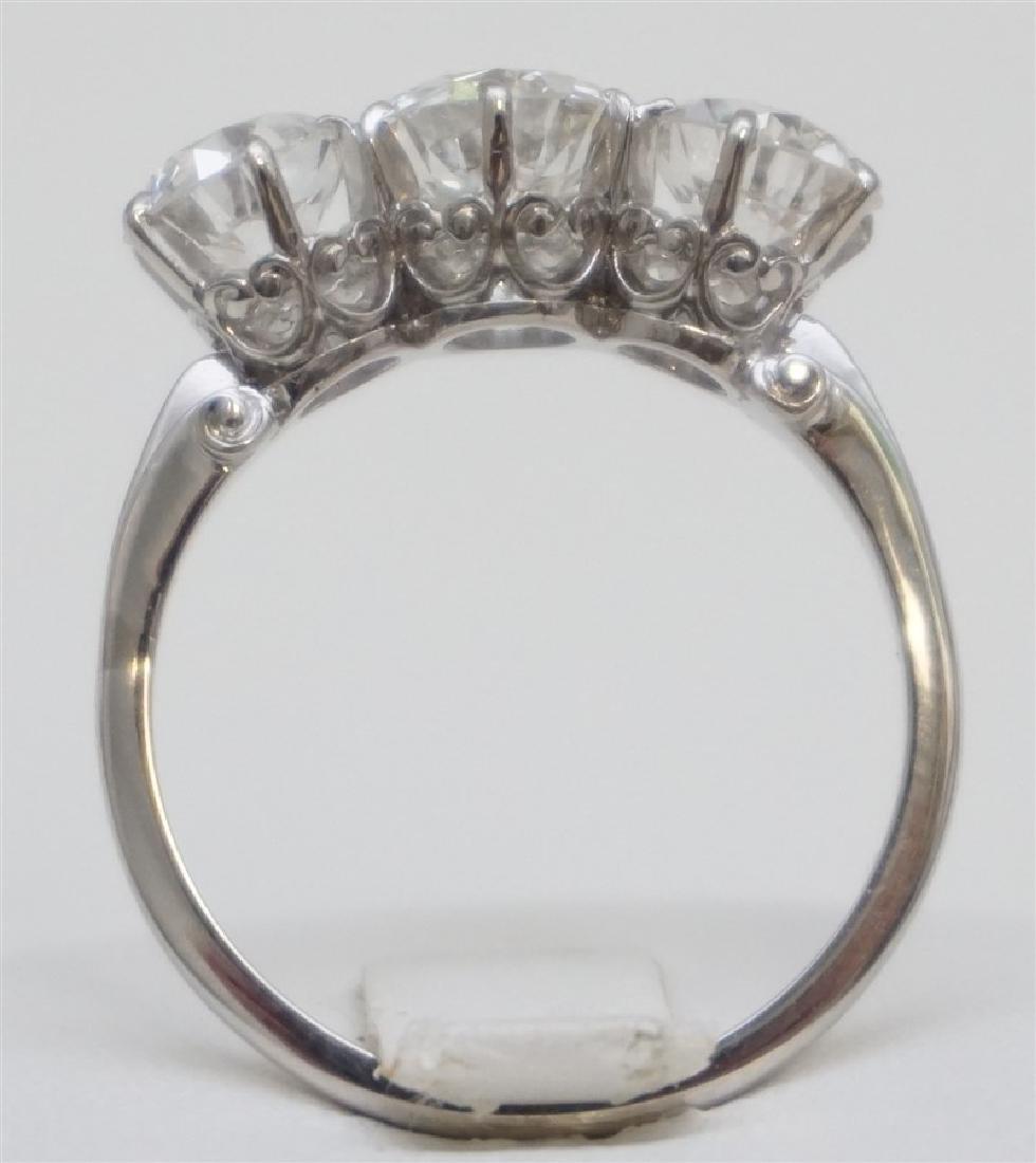 PLATINUM THREE DIAMOND RING (4.00CTS/TW) - 4