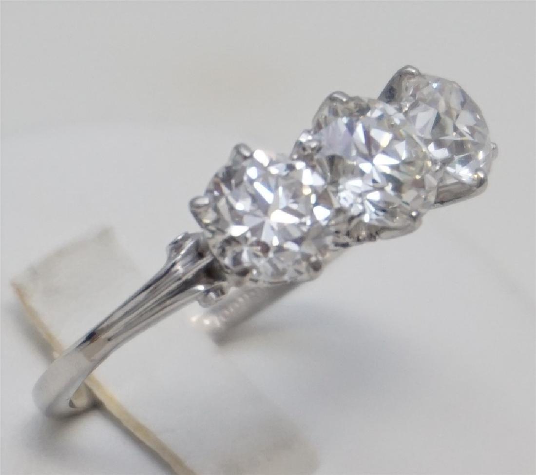 PLATINUM THREE DIAMOND RING (4.00CTS/TW) - 7