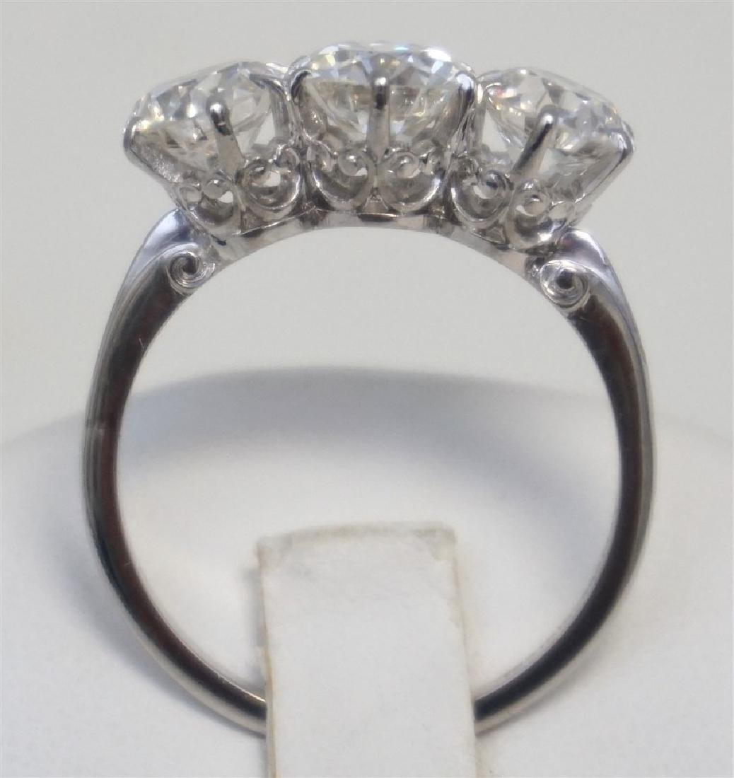 PLATINUM THREE DIAMOND RING (4.00CTS/TW) - 8