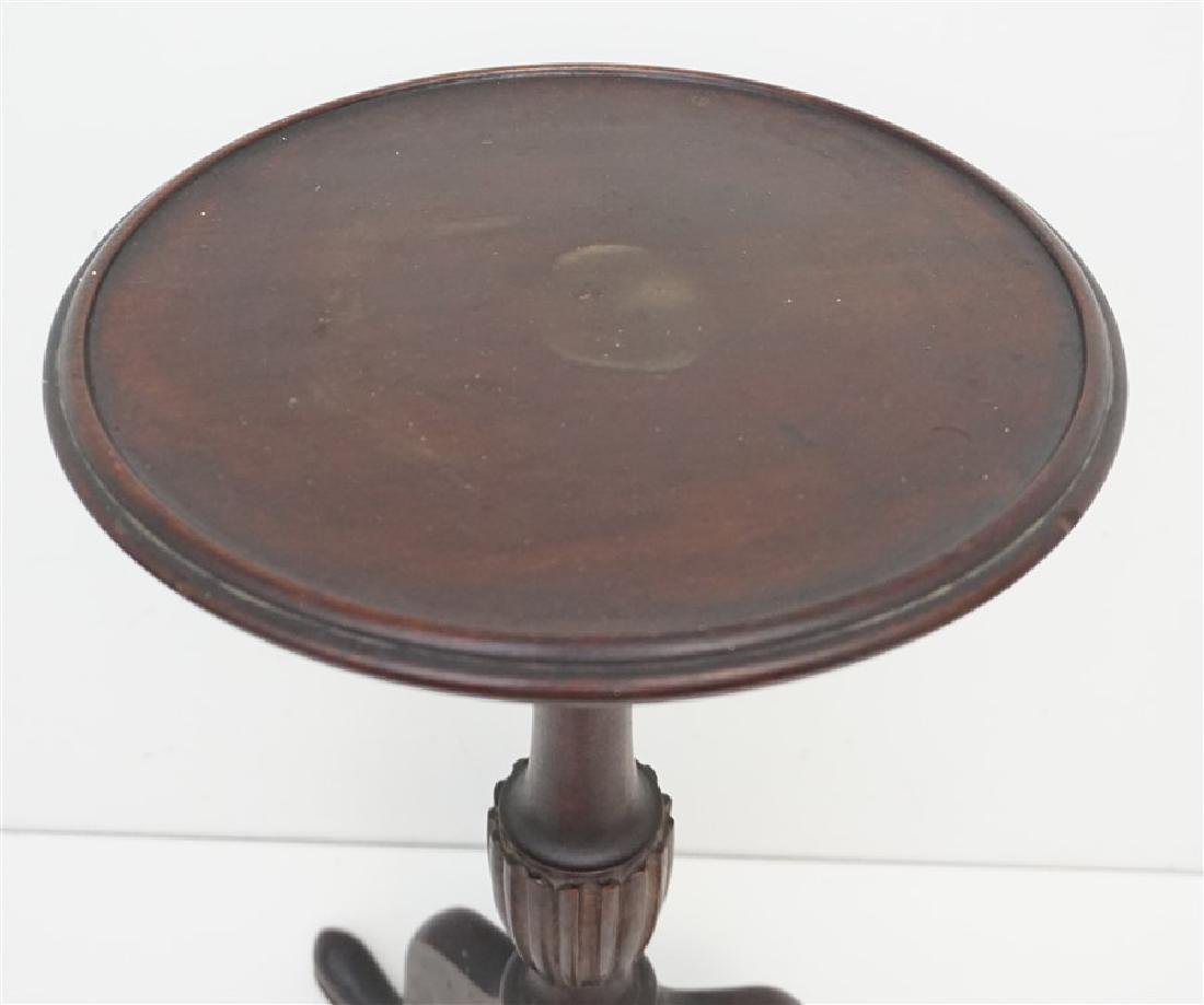 ANTIQUE QUEEN ANNE CANDLE STAND - 3