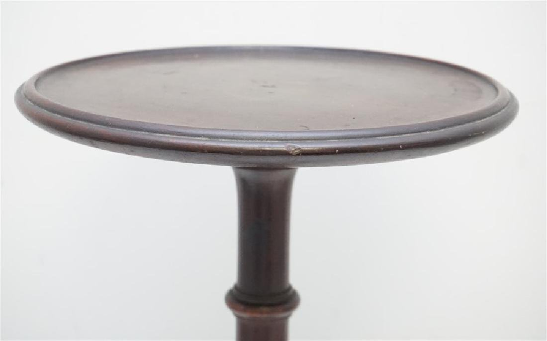 ANTIQUE QUEEN ANNE CANDLE STAND - 5