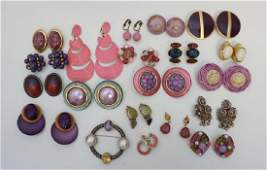 19 pc VINTAGE ESTATE STERLING & COSTUME JEWELRY