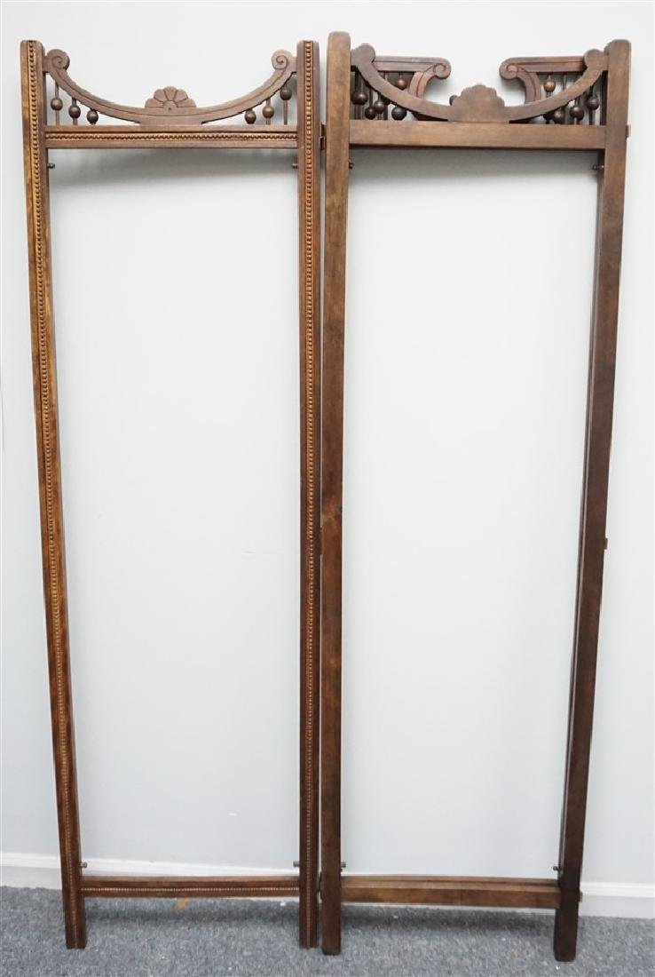 VICTORIAN OAK STICK AND BALL ROOM DIVIDER SCREEN - 6