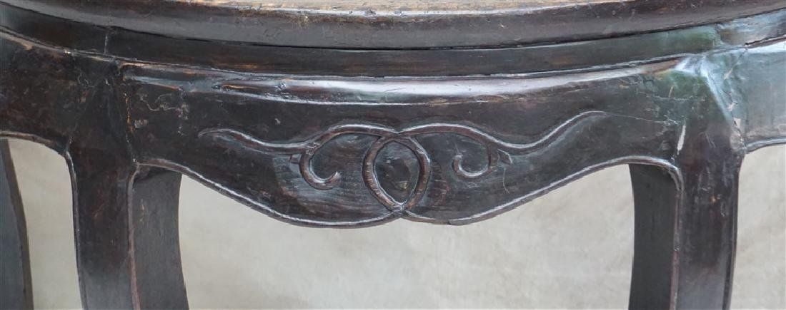 PAIR 18-19th c DEMI- LUNE TABLES, YUEYAZHUO - 3