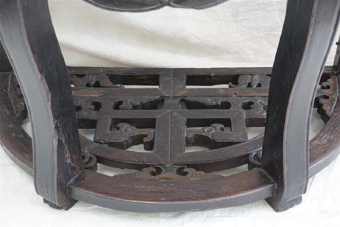 PAIR 18-19th c DEMI- LUNE TABLES, YUEYAZHUO - 6