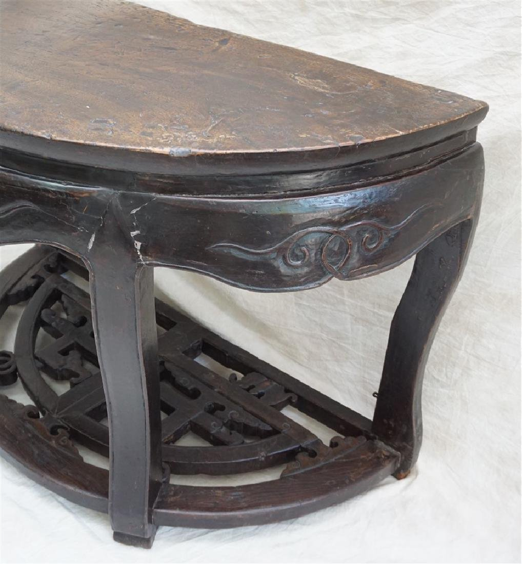 PAIR 18-19th c DEMI- LUNE TABLES, YUEYAZHUO - 7