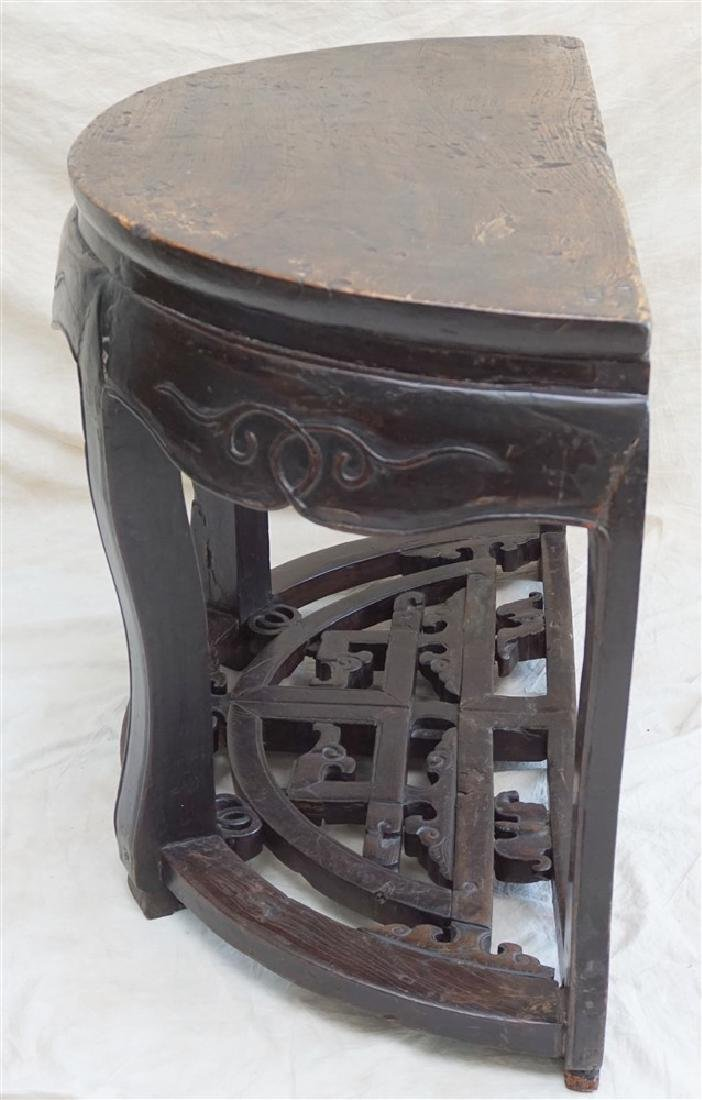 PAIR 18-19th c DEMI- LUNE TABLES, YUEYAZHUO - 8