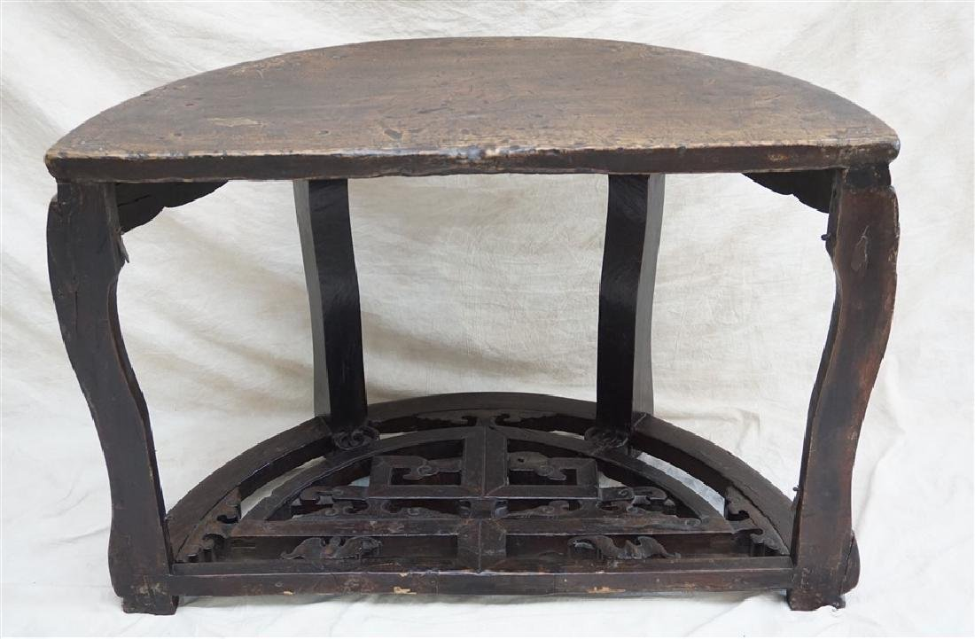 PAIR 18-19th c DEMI- LUNE TABLES, YUEYAZHUO - 9