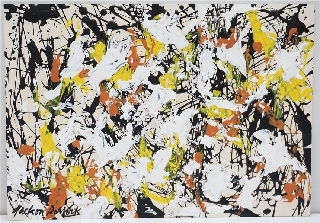 ABSTRACT EXPRESSIONIST DRIP AFTER POLLOCK
