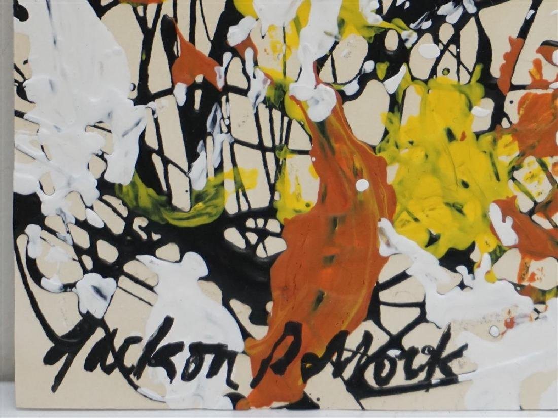 ABSTRACT EXPRESSIONIST DRIP AFTER POLLOCK - 2