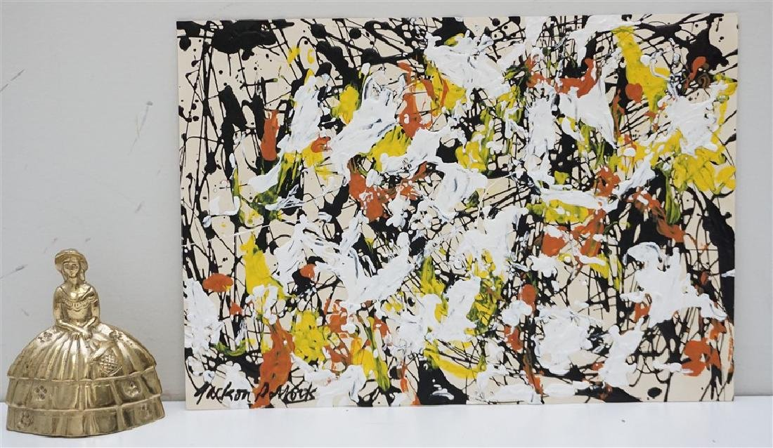 ABSTRACT EXPRESSIONIST DRIP AFTER POLLOCK - 7