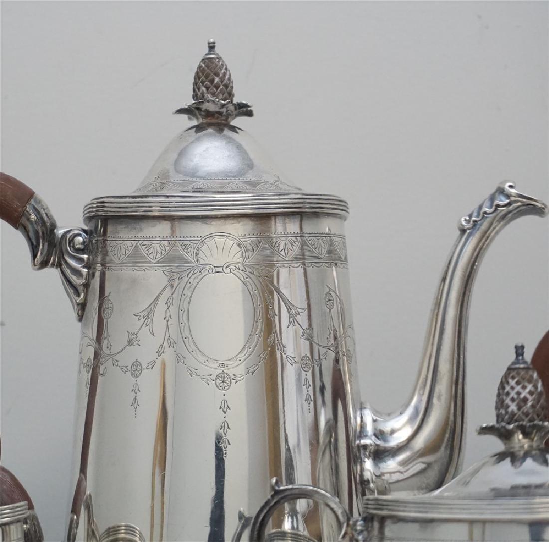5 pc ENGLISH STERLING SILVER TEA / COFFEE SET - 2