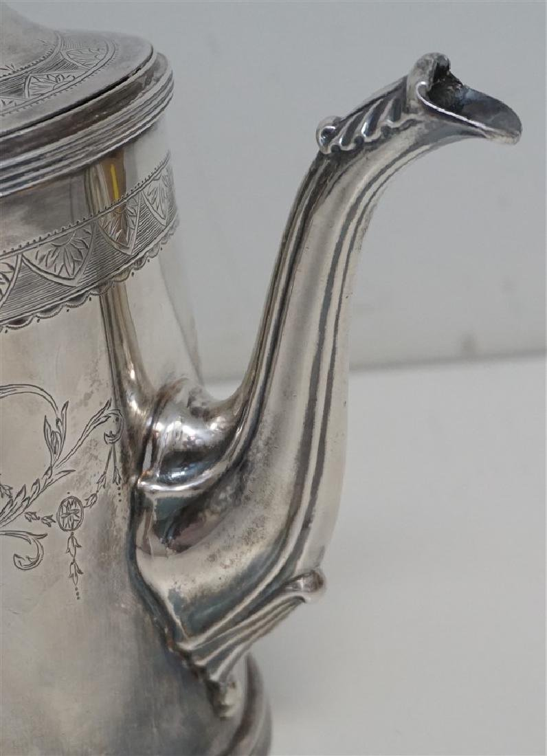 5 pc ENGLISH STERLING SILVER TEA / COFFEE SET - 5