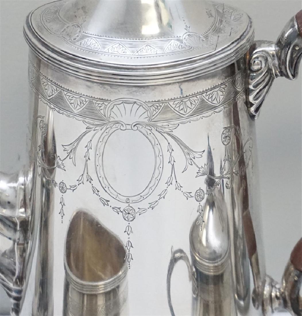 5 pc ENGLISH STERLING SILVER TEA / COFFEE SET - 7