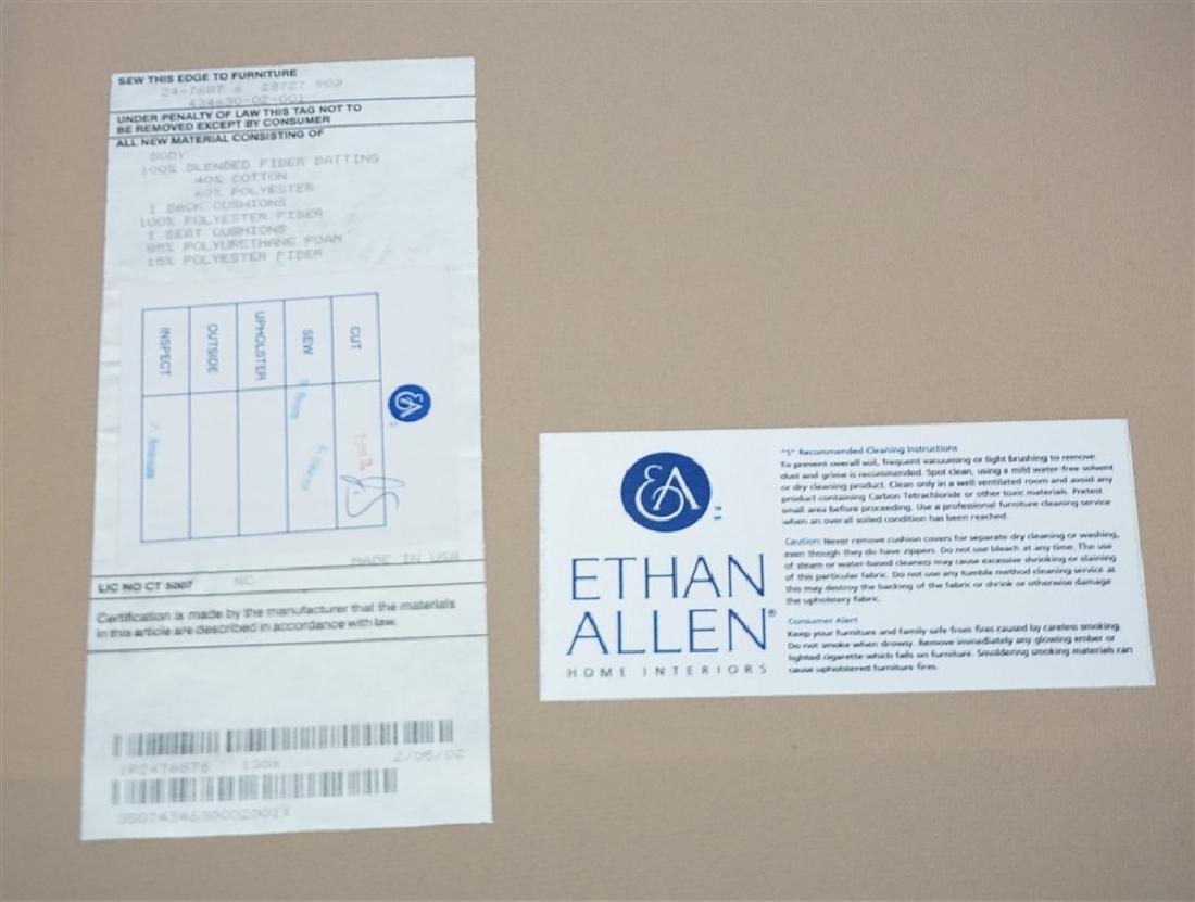 ETHAN ALLEN CHAIR & OTTOMAN - 4