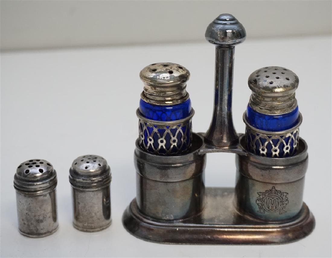 6 Pc SILVERPLATE & STERLING DRESSER JAR - SALTS - 5
