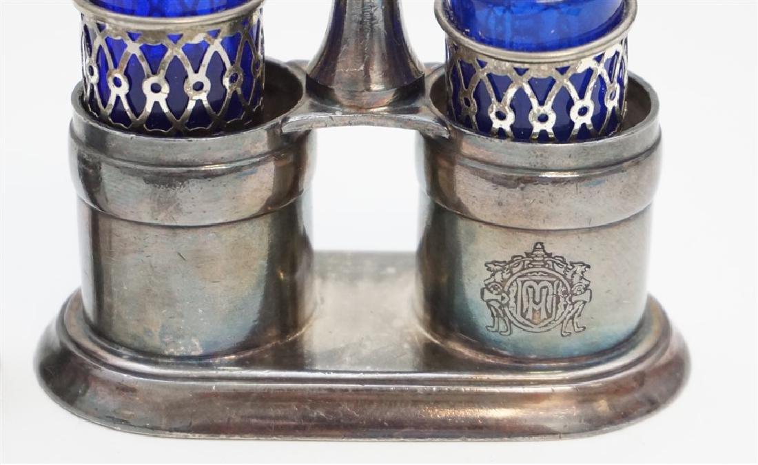 6 Pc SILVERPLATE & STERLING DRESSER JAR - SALTS - 6