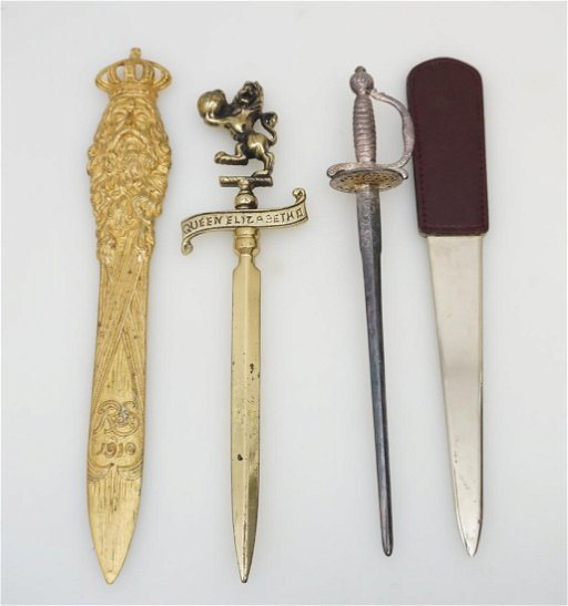 Antique Letter Openers.4pc Antique Vintage Letter Openers