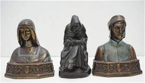 3 POMPEIAN BRONZE BOOKENDS
