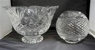 2PC WATERFORD CRYSTAL BOWLS