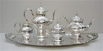 GORHAM CHANTILLY TEA SERVICE & TRAY
