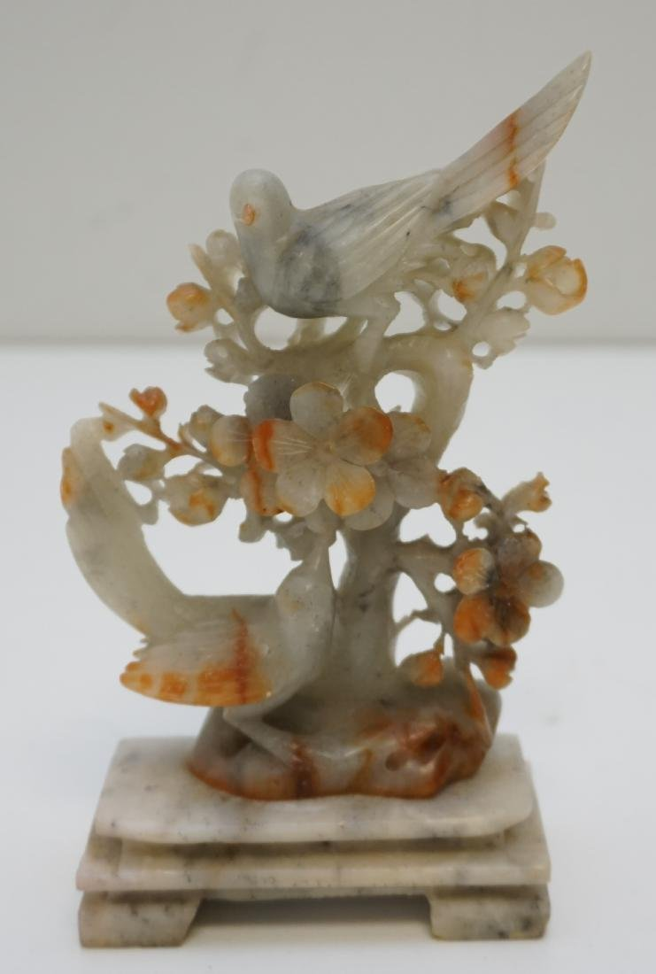 CHINESE CARVED AGATE BIRDS